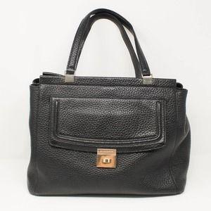 Kate Spade Black Pebbled Leather Satchel Bag Large